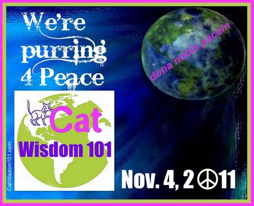 blogblast 4 peace-dona nobis pacem-cat wisdom 101