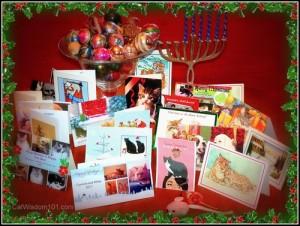Cat Lovers-christmas-cards-hanukkah-cat wisdom101