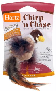 chirp n chase- catnip toy- hartz-layla morgan wilde