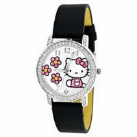 hello kitty-watch-leather strap