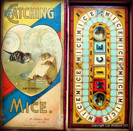 Victorian-antique-cat-mouse-game