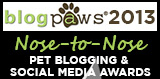 blog paws-nose to nose-pet blog-awards-2013