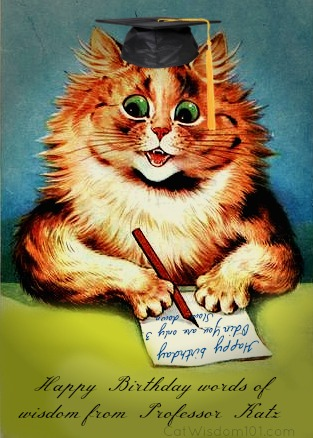 Cat Birthday Vintage Happy