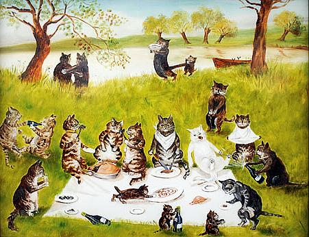 Cat-picnic-art