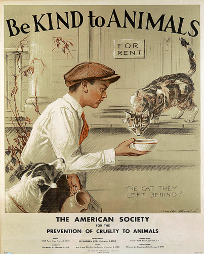 be kind to animals-vintage poster-Aspca