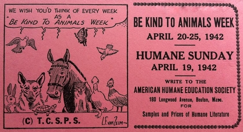 be kind to animals week-vintage-ad humane society.bmp