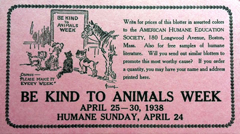 be kind to animals week-vintage ad -humane society