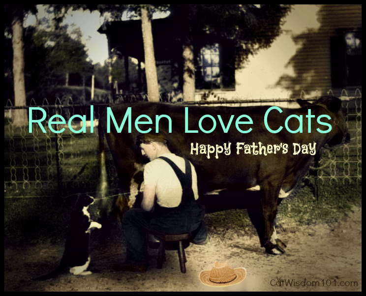 Father's Day-cat-vintage-quote-real men love cats