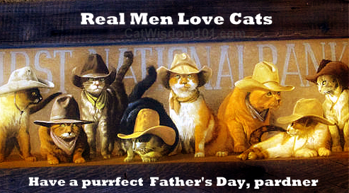 Father's day-cat-cat daddy-cowboys