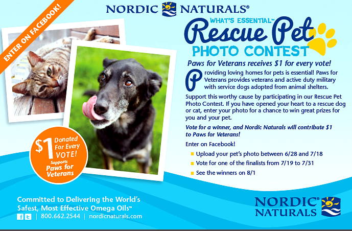 nordic naturals-rescue pet contest-paws for veterans