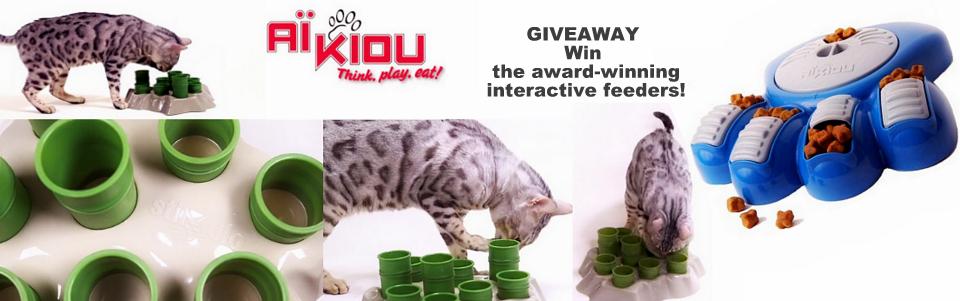 Aikiou interactive pet feeder giveaway