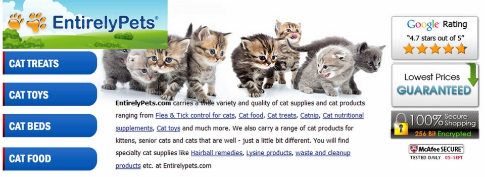 Entirely Pets giveaway cats  or dogs