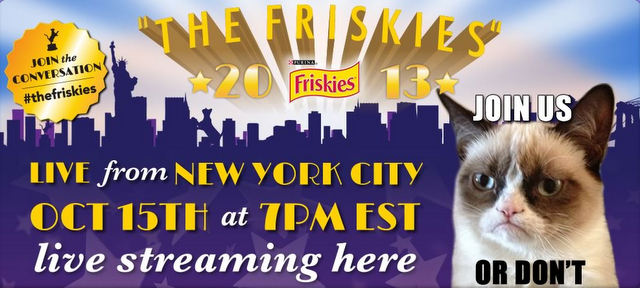 Friskies cat video awards