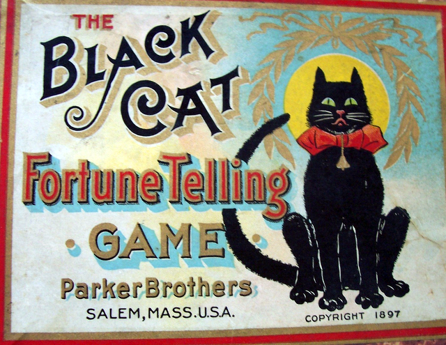 Do You Feel Lucky? Vintage Black Cat Game - Cat Wisdom 101