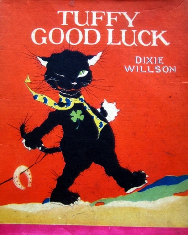 vintage cat book Tuffy Good Luck