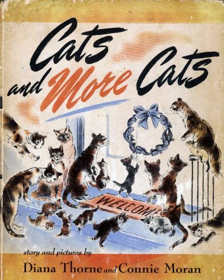 vintage cat book