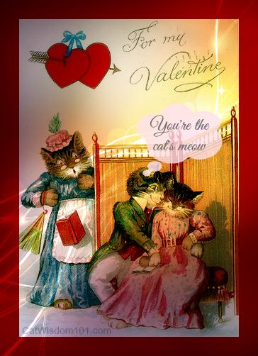 vintage valentine cats