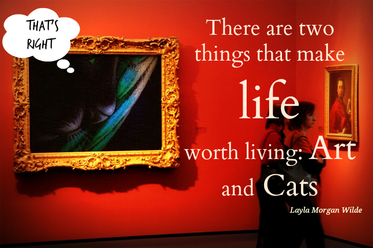 cat art museum quote