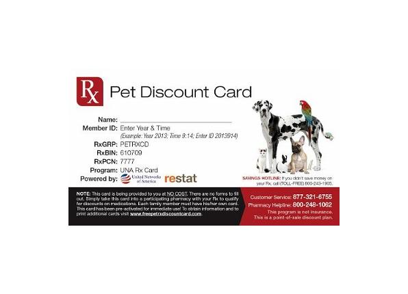 Pet RX discount card