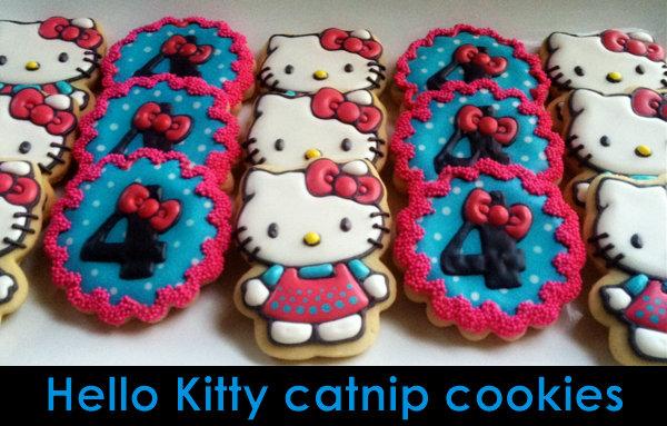 hello kitty catnip cookies-cat birthday