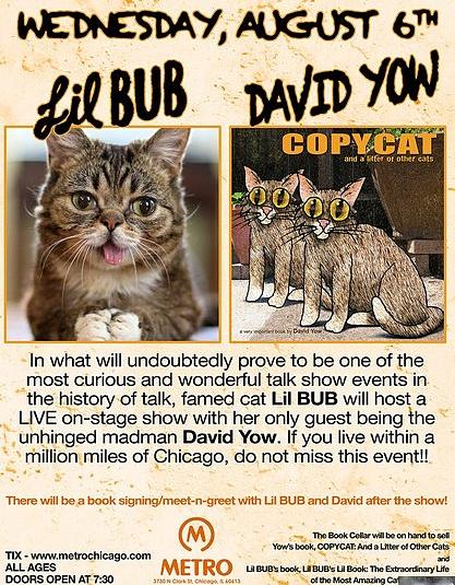 Lil BUb- David Yow-book event
