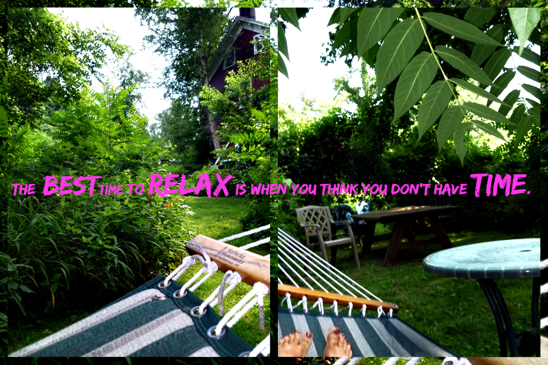 Hammock time-relax quote
