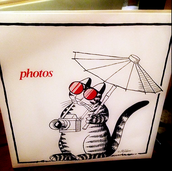 Kliban -photo album-camera