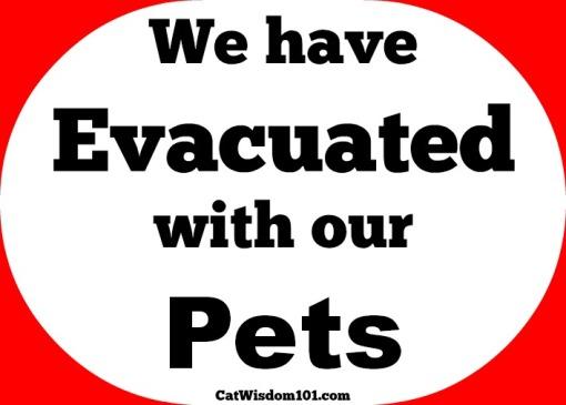 pet evacuation sign