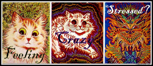 crazy cats-vintage art