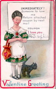 vintage cat Valentines-COUPON