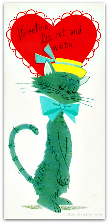 vintage-cat-Valentines-60s 120 Years of Valentines With Cats
