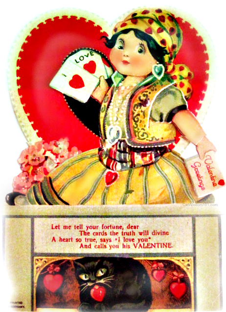 vintage-cat-Valentines-gypsy 120 Years of Valentines With Cats