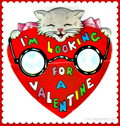 vintage cat Valentines-looking eyeglasses