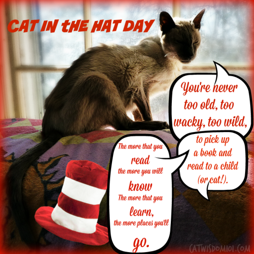 dr. suess quote READING -cat in the hat day