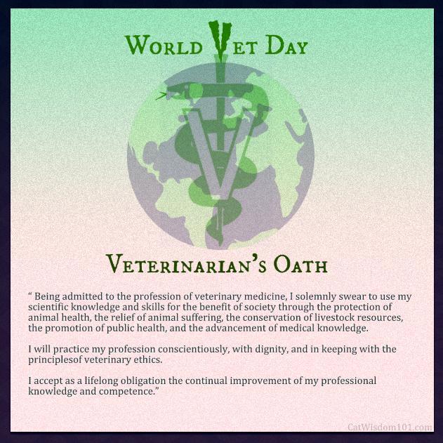 World vet day-veterinarian's oath