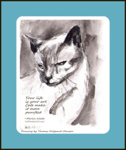 cat art quote- Thomas Dalgaard Clausen