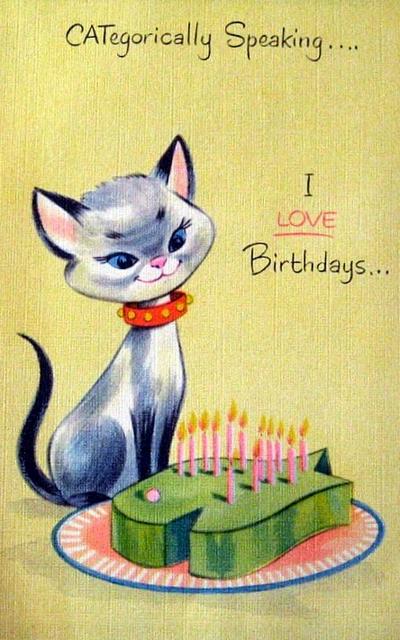 Cat birthday fish cake