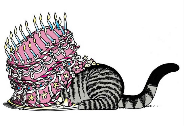 Kliban cat birthday cake