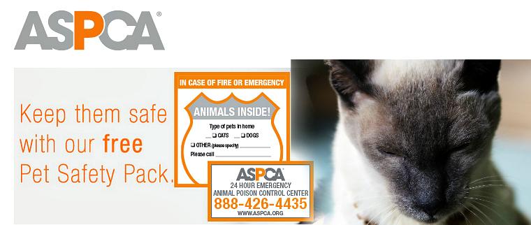 ASPCA emergency stickers