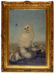Carl Kahler cat painting persian