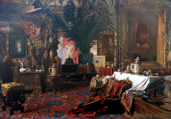 The art studio of Carl Kahler