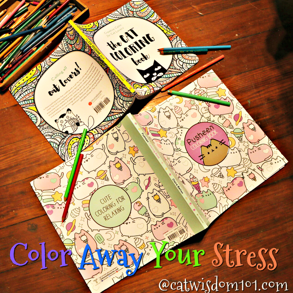 Fun Cat Coloring Books Reduce Stress