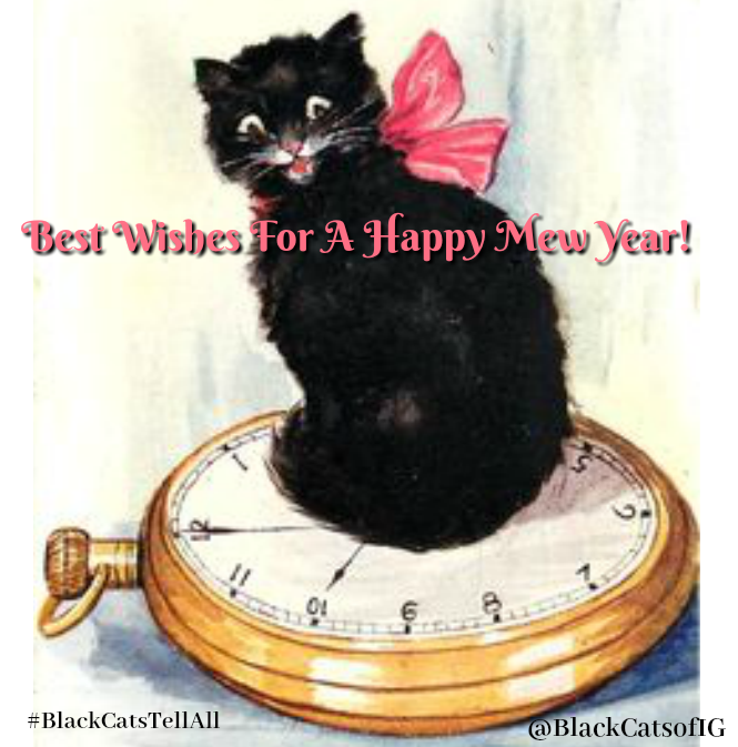 vintage_new_year_card_cat