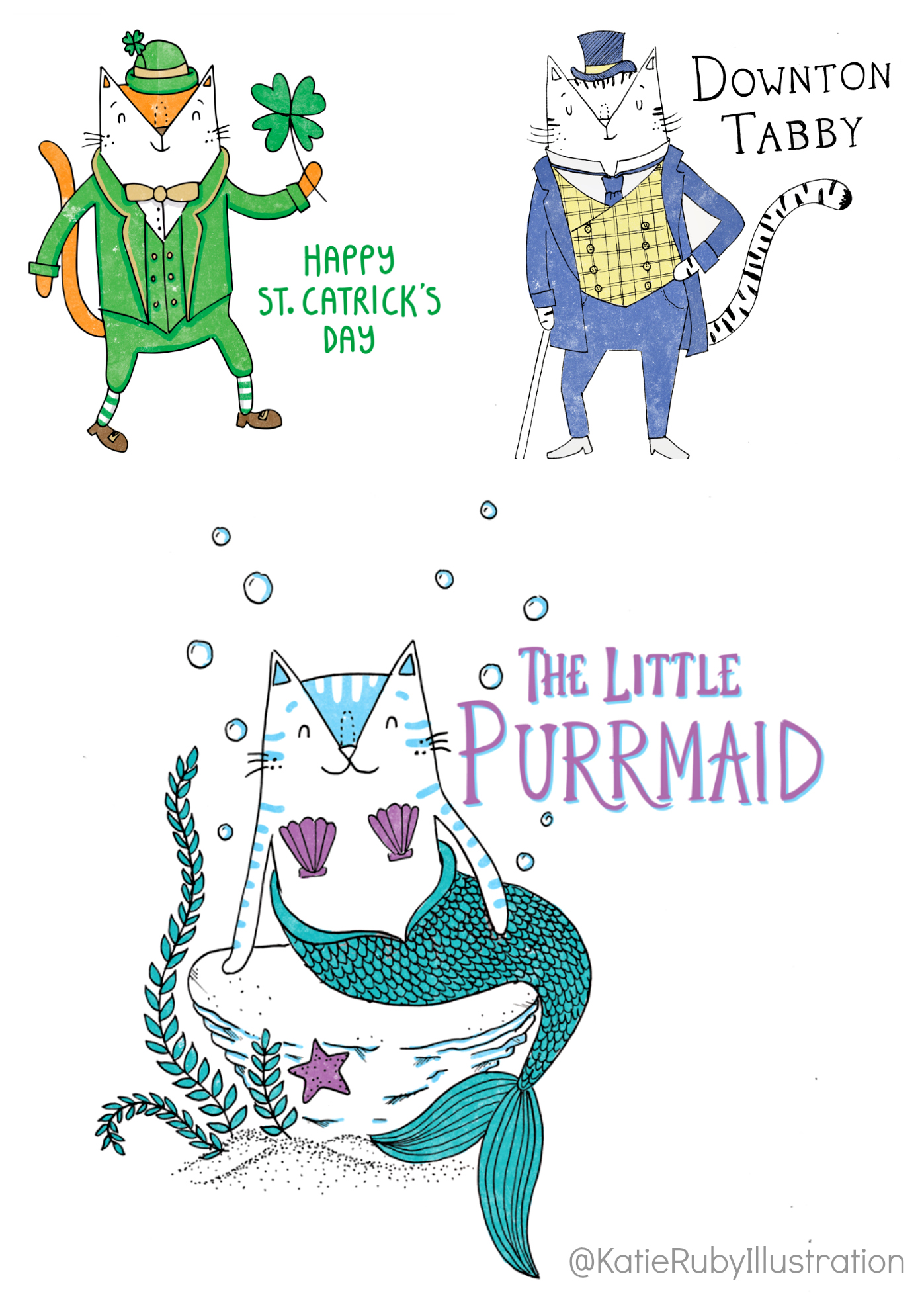Punderful_cat_illustrations_purrmaid