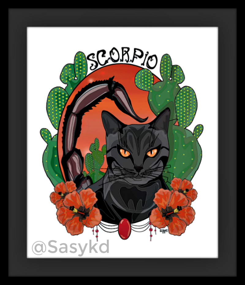 Scorpio_Cat_Astrology_Art
