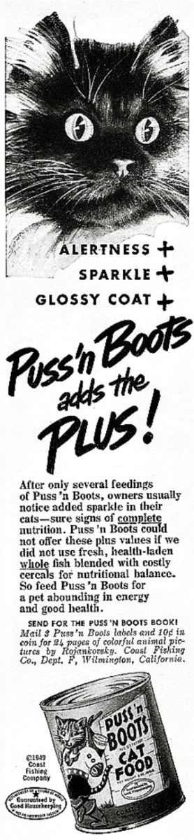 vintage_Puss _n Boots Cat Food -1949