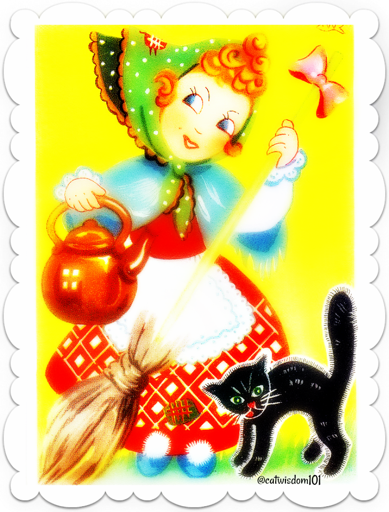 witch-black_cat-vintage-easter