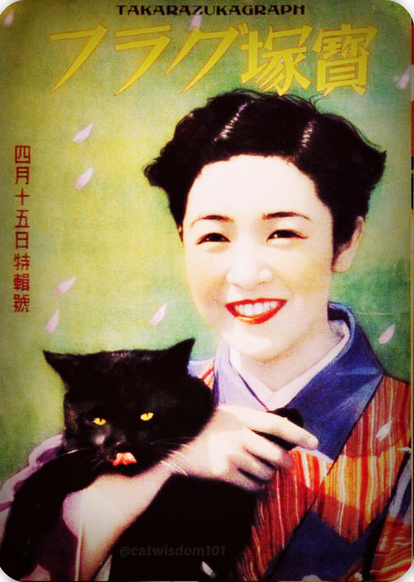 vintage_1940_japan_black_cat