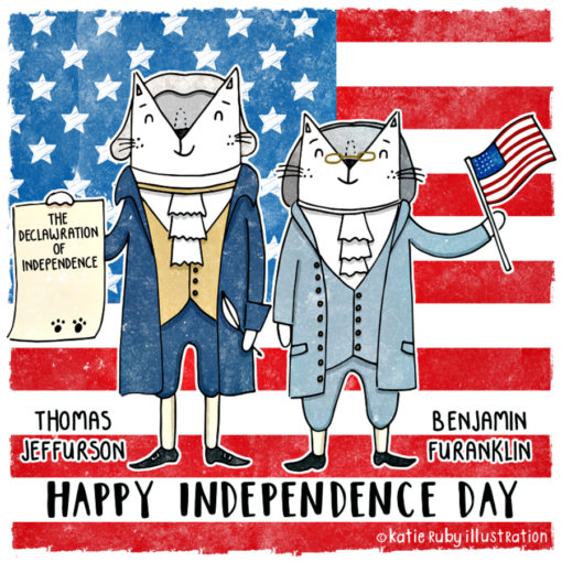 INDEPENDENCE DAY cats_Katie_ruby_cats