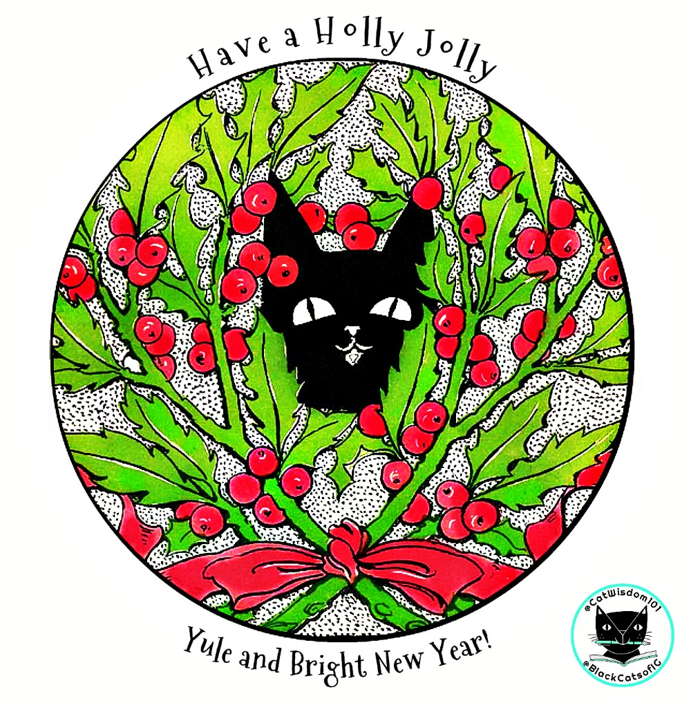 Black Cat_yule__christmas